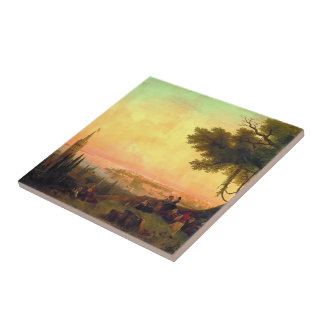 Ivan Aivazovsky- View of Constantinople by light Ceramic Tile