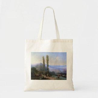 Ivan Aivazovsky- View of Tiflis Canvas Bags