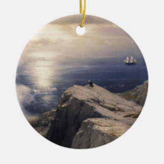 Ivan Aivazovsky vintage water boat painting old Ceramic Ornament