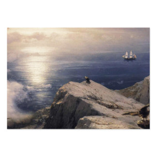 Ivan Aivazovsky vintage water boat painting old Large Business Card