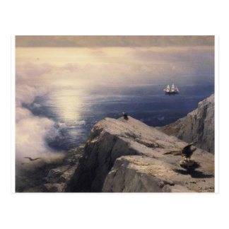Ivan Aivazovsky vintage water boat painting old Postcard
