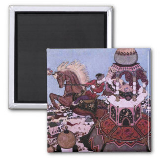 Ivan and the Chestnut Horse Fairy Tale Magnet