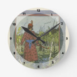 Ivan Bilibin: El príncipe y la rana Relojes De Pared