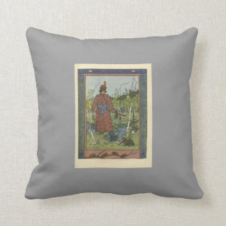 Ivan Bilibin: The Prince and the Frog Pillows
