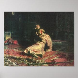 Ivan el terrible y su hijo póster