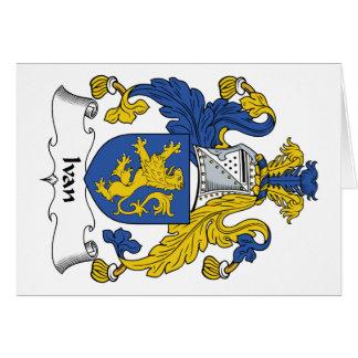 Ivan Family Crest Card