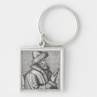 Ivan IV el terrible Llavero Cuadrado Plateado