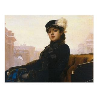 Ivan Kramskoi - retrato de una mujer desconocida Postales