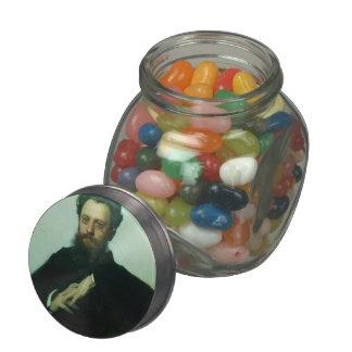 Ivan Kramskoy- Adrian Viktorovich Prahova portrait Jelly Belly Candy Jars