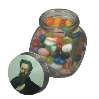 Ivan Kramskoy- Adrian Viktorovich Prahova portrait Glass Candy Jars