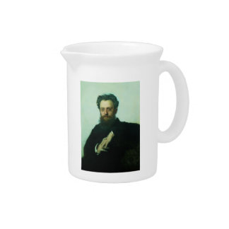 Ivan Kramskoy- Adrian Viktorovich Prahova portrait Beverage Pitcher