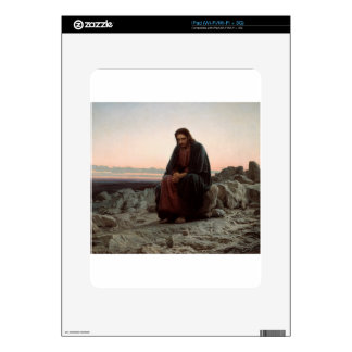 Ivan Kramskoy- Christ in the Wilderness- Fine Art Decal For iPad
