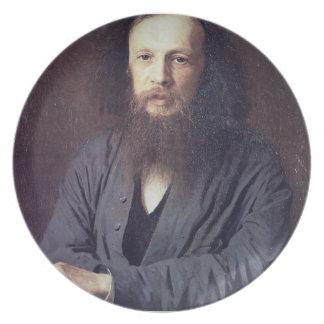 Ivan Kramskoy: D. I. Mendeleev Dinner Plate