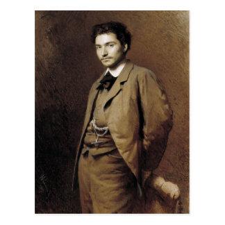 Ivan Kramskoy- Fyodor Vasilyev Postcard