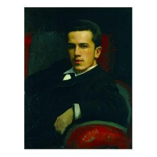 Ivan Kramskoy- Portrait of Anatoly Kramskoy Postcard