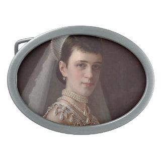 Ivan Kramskoy :Portrait of Empress MariaFiodorovna Belt Buckles