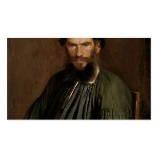 Ivan Kramskoy- Portrait of Leo Tolstoy Business Cards