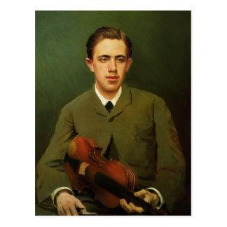 Ivan Kramskoy- Portrait of Nikolay Kramskoy Postcard