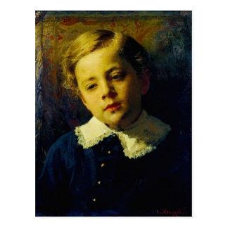 Ivan Kramskoy- Portrait of Sergei Kramskoy Postcard