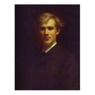 Ivan Kramskoy-Portrait of the Doctor Sergey Botkin Post Card