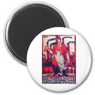 Ivan Malioutine 1920 Russian Propaganda Print Refrigerator Magnets