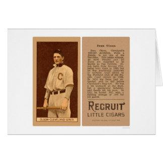 Ivan Olson Cleveland Naps Baseball 1912 Card