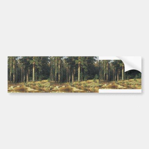 Ivan Shishkin- Mast Tree Grove Bumper Stickers