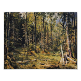 Ivan Shishkin- Mixed Forest. Shmetsk Near Narva Poster