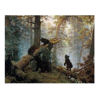 Ivan Shishkin Morning In A Pine Forest Postcard