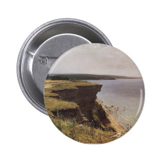 Ivan Shishkin- On the Shore of the Gulf of Finland Pinback Button