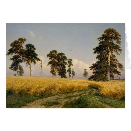 Ivan Shishkin Rye CC0452 Greeting Card