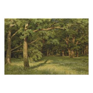 Ivan Shiskin el bosque que despeja CC0350 Perfect Poster
