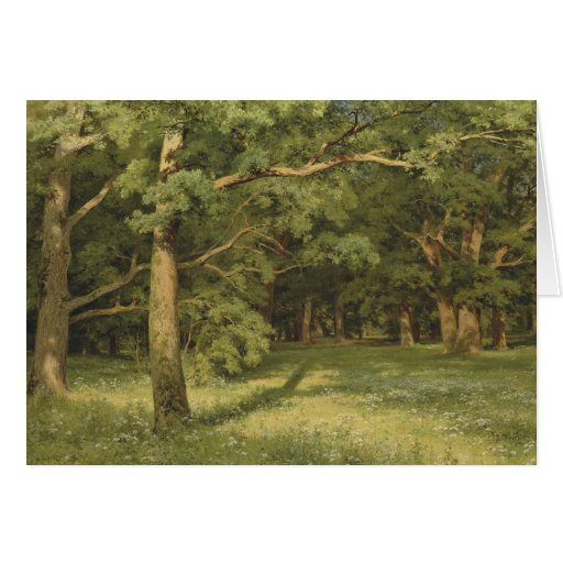 Ivan Shiskin The Forest Clearing CC0451 Greeting Card