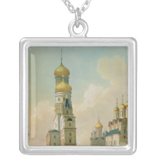 Ivan the Great Bell Tower in the Moscow Silver Plated Necklace