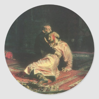 Ivan The Terrible And His Son Round Stickers