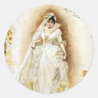 Ivanhoe de la ópera inglesa real pegatina redonda