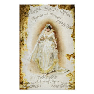 Ivanhoe de la ópera inglesa real póster