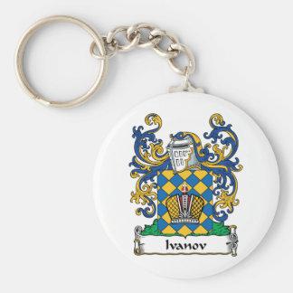 Ivanov Family Crest Basic Round Button Keychain