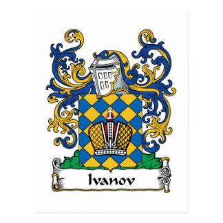 Ivanov Family Crest Postcard