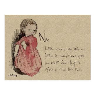 Ivar Arosenius Lillan Says No CC0238 Postcard