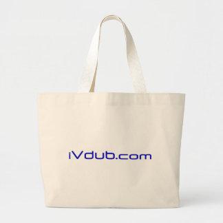 Ivdub logo Blue Large Tote Bag