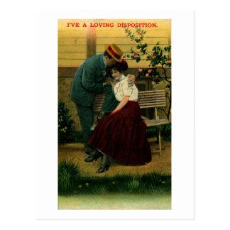 I've a Loving Disposition Romance Vintage Postcard