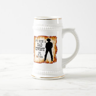 I've been a BAD COWBOY Send me to Your Room Beer Stein