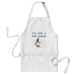 I've been a bad penguin adult apron