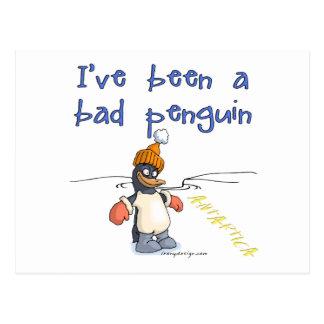 I've been a bad penguin postcard