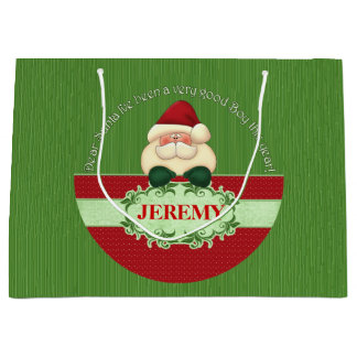 I've Been a Good Boy, Santa - LRG Red and Green Large Gift Bag
