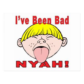 I've Been Bad (Boy) Postcard