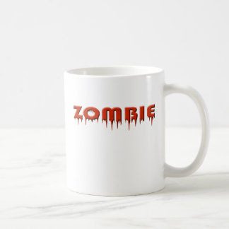 ive been bit by a zombie! classic white coffee mug