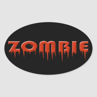 ive been bit by a zombie! oval sticker