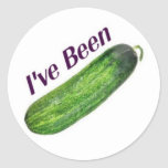 I've Been Cucumber Round Stickers